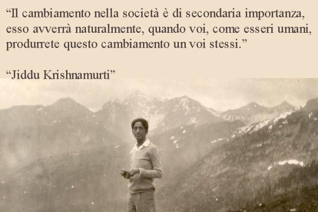 Krishnamurti il cambiamento